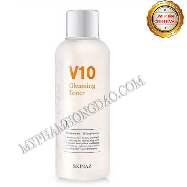 NƯỚC HOA HỒNG V10 GLEAMING TONER SKINAZ HÀN QUỐC